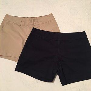 2 Pairs Tommy Hilfiger Chino Shorts Sz 6 Navy Tan